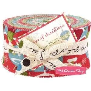 12 Days of Christmas Jelly Roll Kate Spain for Moda Fabrics