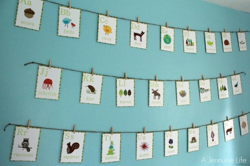 Nursery Prep Alphabet Wall Art A