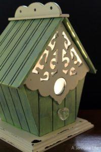Nursery prep bird house night light a jennuine life - Birdhouse nightlight ...
