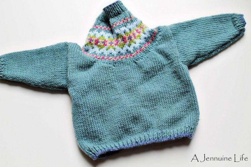 Knitting: Fair Isle Cardigan for Baby - A Jennuine Life