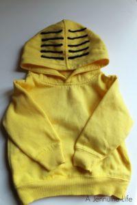 A Jennuine Life DIY Minion Costume Hoodie