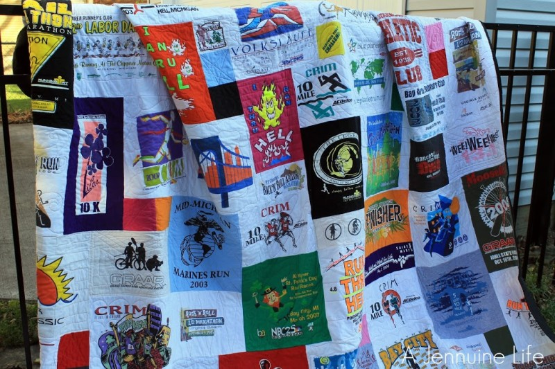 My Too Cool T-shirt Quilt - A Jennuine Life : interfacing for t shirt quilts - Adamdwight.com