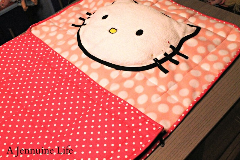 Tutorial pb kids hello kitty toddler sleeping bag a - Pottery barn hello kitty ...