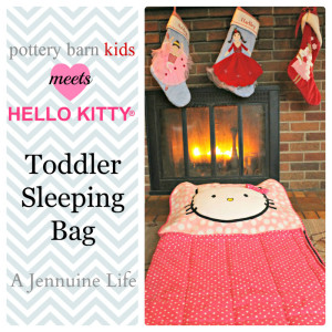 Pottery Barn + Hello Kitty Knockoff Toddler Sleeping Bag Title