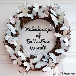 Craftiments:  Kaleidoscope of Butterflies Wreath