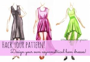 how to make an asymmetrical hem dress by thisblogisnotforyou.com