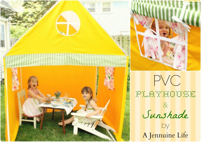 PVC Playhouse Tent Collage