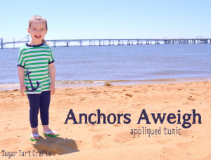 Anchors Aweigh: Simple t-shirt refashion with appliqued anchor