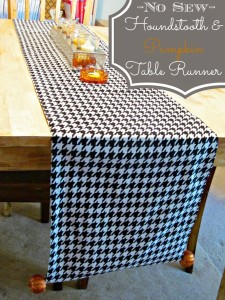 No sew Halloween table runner