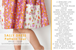 sally dress pattern tour on luvinthemommyhood.com