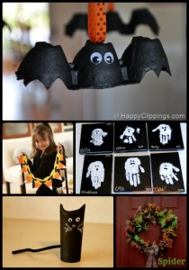 10 Easy & Kid-Friendly Halloween Crafts - DesignedByBH.com - Set 1