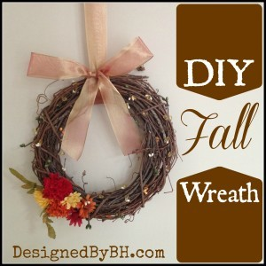 DIY Fall Wreath - DesignedByBH.com - #fall #wreath #DIY