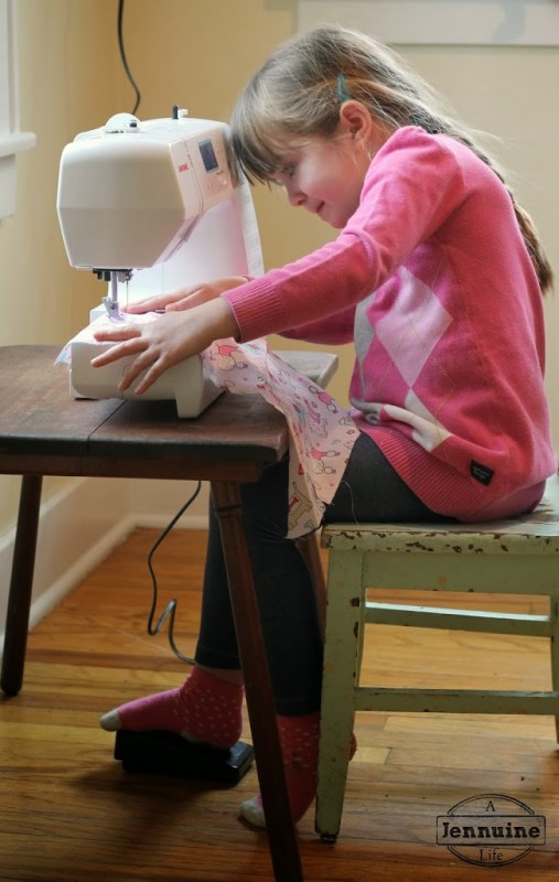 tiny sewists teaching kids to sew lesson 5 a jennuine life. Black Bedroom Furniture Sets. Home Design Ideas