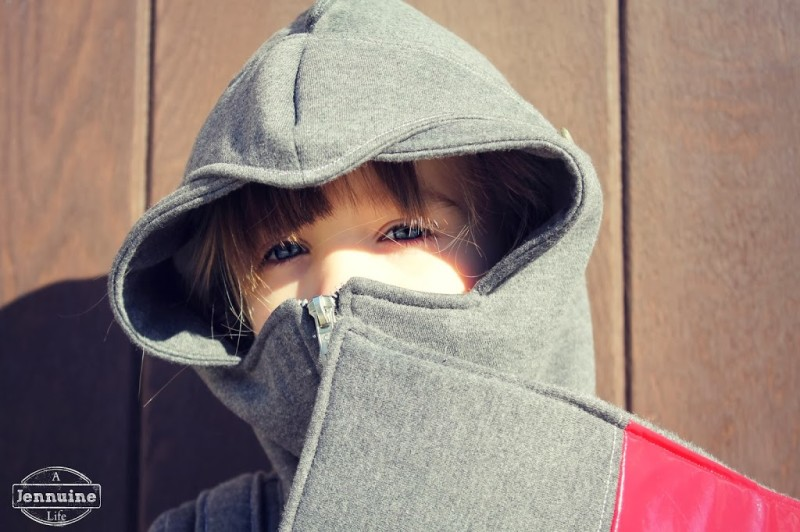 How fun is the hood with the visor and the zippered helmet piece covering her mouth? As a bonus it\u0027s really warm all zipped up like that which was a good ... & Knight Hoodie + Shield Tutorial - A Jennuine Life Pezcame.Com
