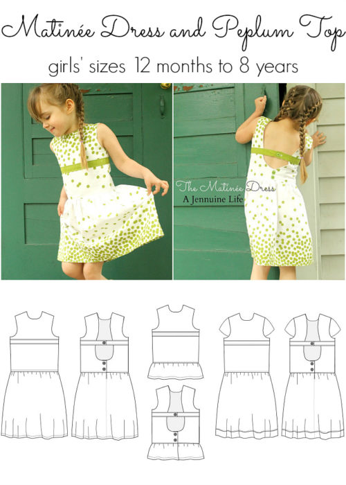 Jennuine Design Matinée Dress and Peplum Top girls' sizes 12 months to 8 years