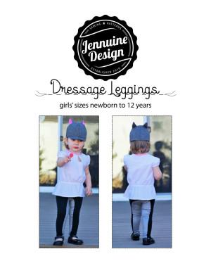 Dressage Leggings equestrian-inspired leggings by Jennuine Design girls' nb through 12 years