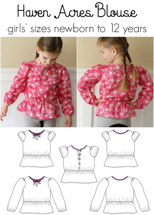 Jennuine Design Haven Acres Blouse girls' sizes newborn to 12 years