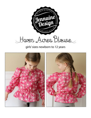 Haven Acres Blouse by Jennuine Design girls' sizes newborn to 12