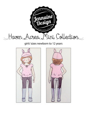 Haven Acres Mini Collection by Jennuine Design Sweet Pea Cap, Haven Acres Blouse, Dressage Leggings