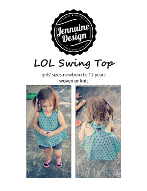 LOL Swing Top by Jennuine Design girls' newborn to 12 years