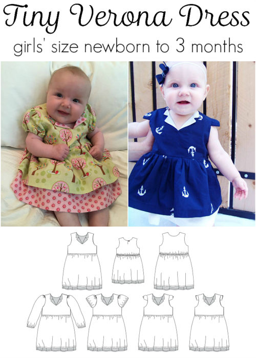 Jennuine Design Tiny Verona Dress girls' size newborn to 3 months excerpt from full range Verona Dress