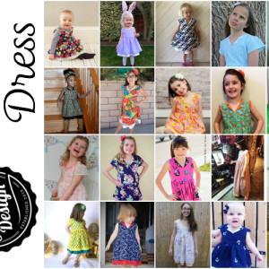 Verona Dress by Jennuine Design for girls' sizes newborn to 12 years
