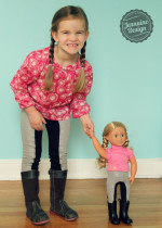 "Doll Dressage Leggings Jennuine Design for 15"" and 18"" dolls"