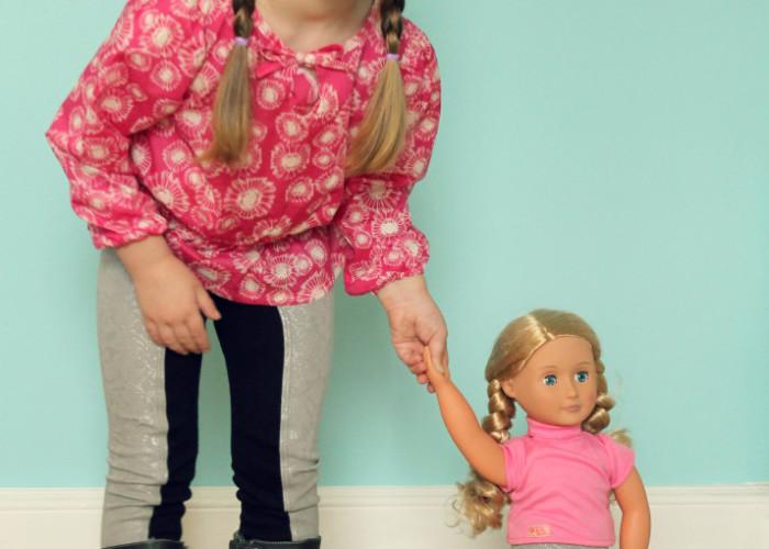 """Doll Dressage Leggings Jennuine Design for 15"""" and 18"""" dolls"""