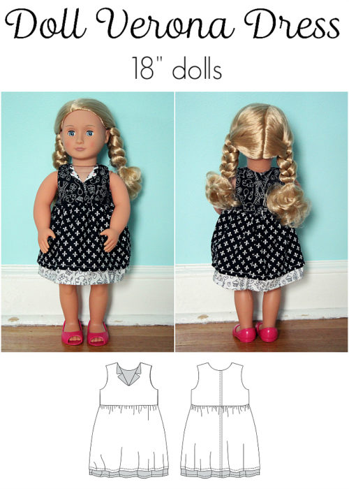 "Jennuine Design Doll Verona Dress 18"" Dolls"