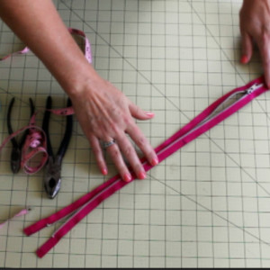 Shortening a zipper grab