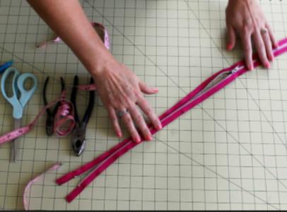 Shortening a zipper grab