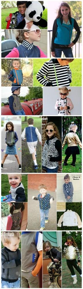 Moto Jacket Pattern Tour final collage