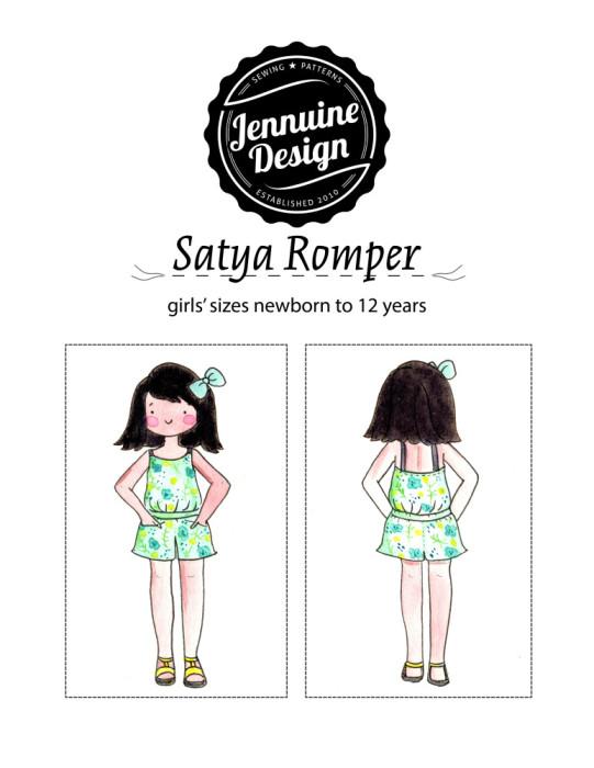Satya Romper Jennuine Design girls' sizes nb to 12 years