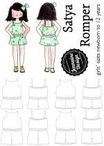 Jennuine Design Satya Romper for girls' newborn to 12 years www.ajennuinelife.com/product/satya-romper