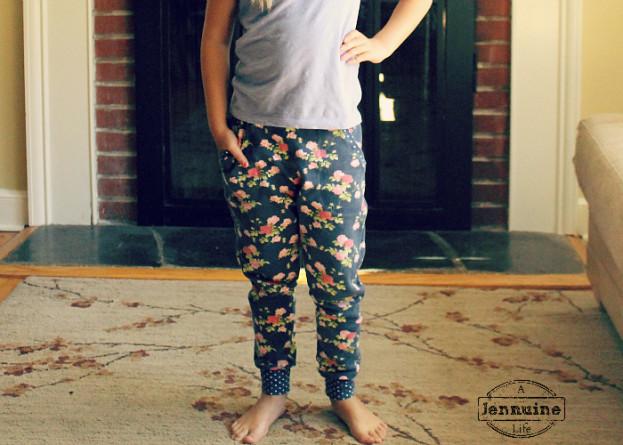 Floral Mini Hudson Pants 3