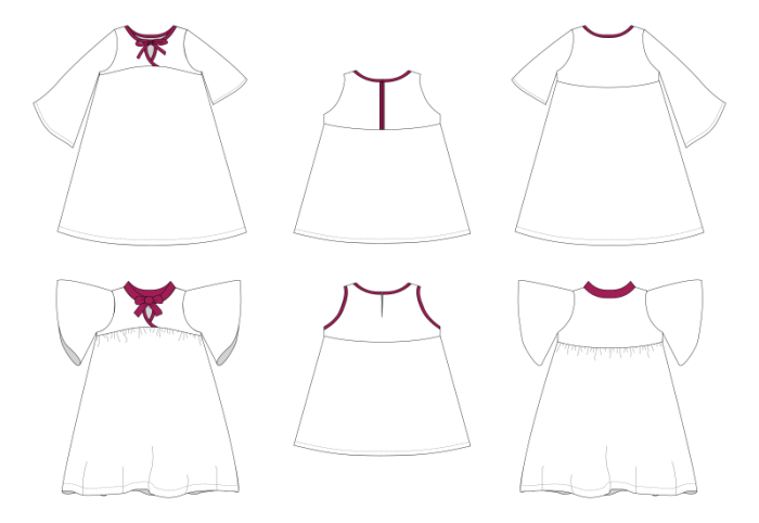 Naples Dress Line Drawings-01