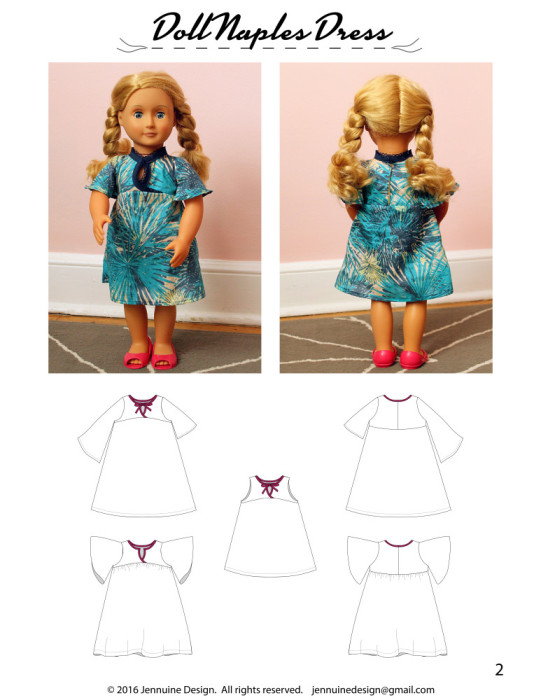 Doll Naples Dress Tutorial2