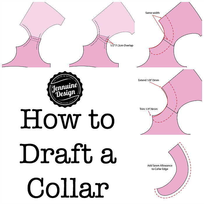 How to draft a collar by A Jennuine Life/Jennuine Design
