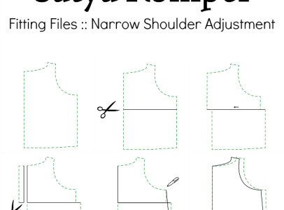 Fitting Files  Satya Romper Narrow Shoulder Adjustment