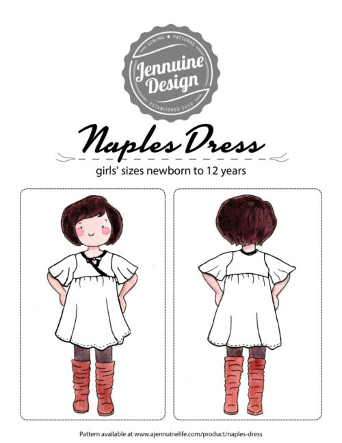Naples Dress Coloring Page Cover