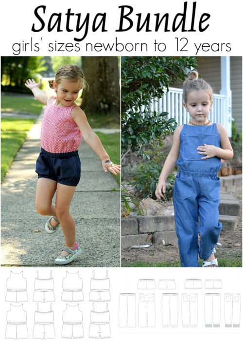 Jennuine Design Satya Bundle girls' sizes newborn to 12 years