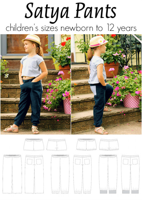 Jennuine Design Satya Pants children's sizes newborn to 12 years