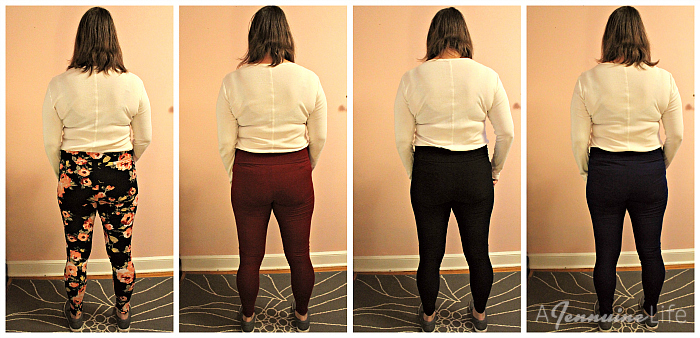 Leggings comparison - back
