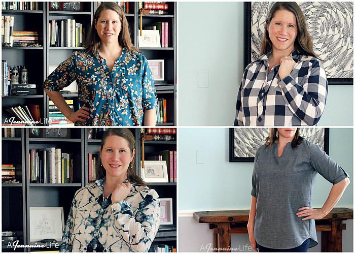 Women's Popover Tunics Neckline Collage