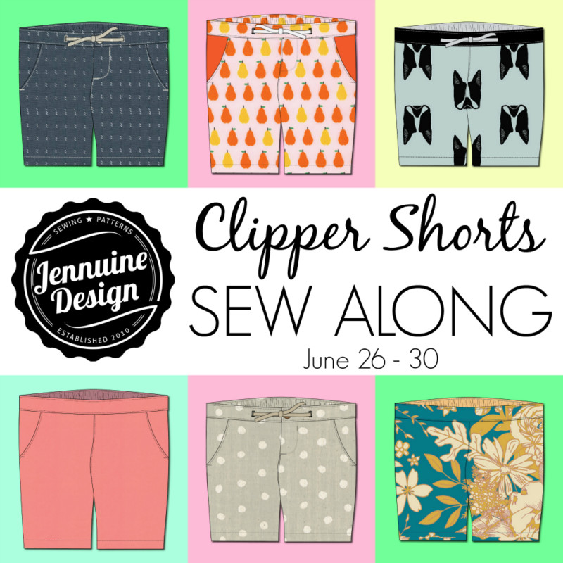 Clipper Shorts Sew Along Graphic Dated