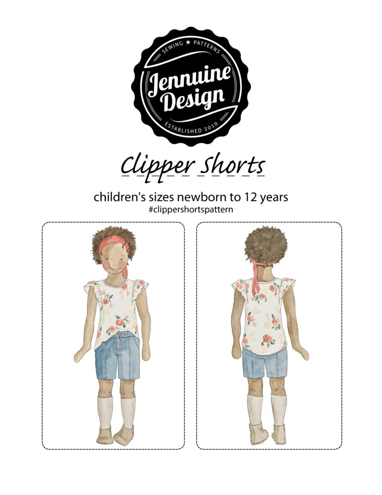 Jennuine Design Clipper Shorts Unisex for children sizes newborn to 12 years