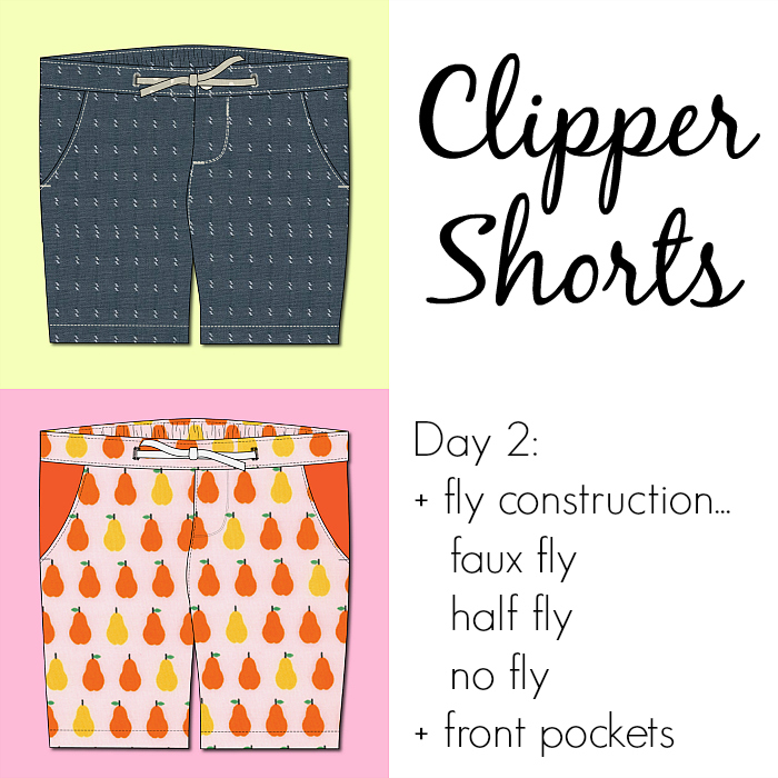 Jennuine Design Clipper Shorts Sew Along Day 2